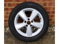 FORD FOCUS ALLOY AND DUNLOP TYRE