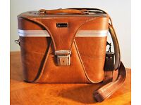 Vintage Marsand Brown Leather Camera Case with Strap - Made in USA