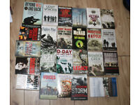 CARBOOT RESALE BUNDLE JOBLOT IN EXCELLENT CONDITION LARGE BUNDLE USED WAR / MILITARY BOOKS WW1 WW2