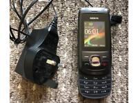 Nokia 2220s Black Slide Phone + Charger UNLOCKED