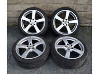 "18"" Genuine Zito alloy wheels tyres 5x110 Vauxhall Astra Vectra"