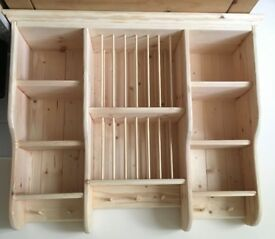 Solid Pine Plate Rack