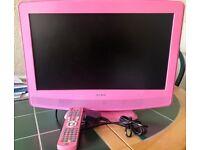 "19"" pink tv dvd combo hd ready"