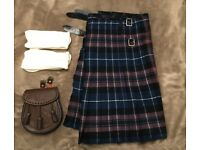 Scottish Kilt, Sporran and Socks Outfit