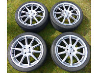 "MGF MG TF MGTF Rimstock 7"" x 17"" Alloys inc. Avon ZZ3 Tyres. TR7 Atom Caterham Maestro Montego ?"