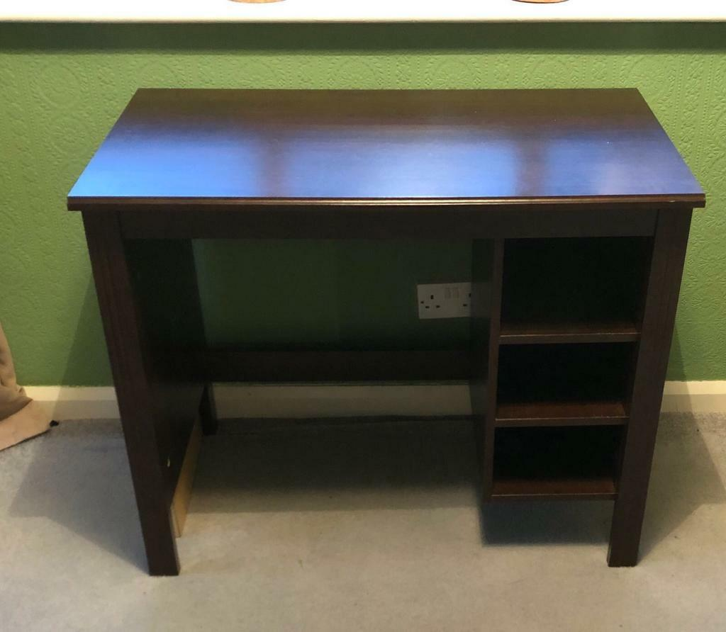 Ikea Dark Wood Desk