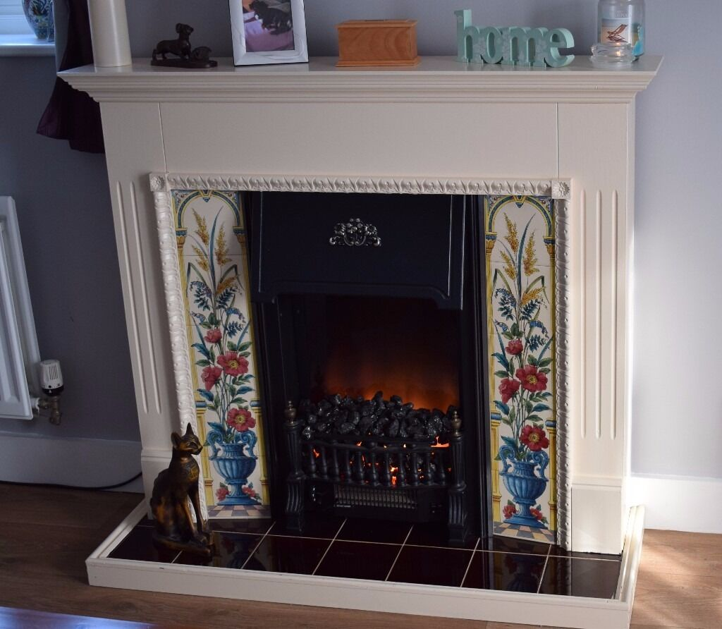 fire surround with electric fire in fareham hampshire gumtree