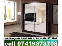 ALKA C Black S~H~I~C~A~G~O Sliding Door Wardrob