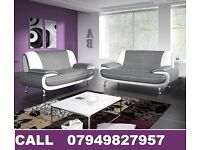 Fab Class Design: LEATHER 3 AND 2 SEATER SOFA SET