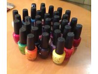 34xnew Opi nail polishes bundle ,15 ml each, come with free opi polishes rack/stand