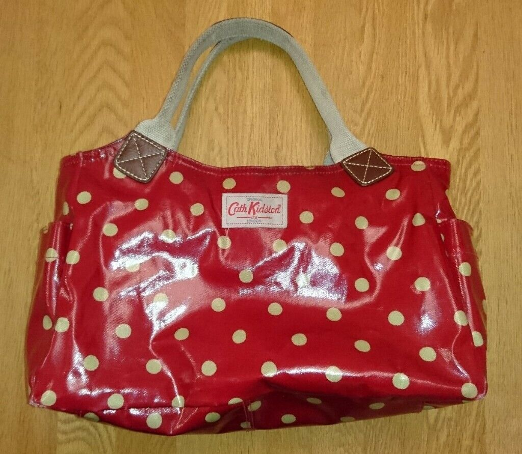 Cath Kidson Red Button Spot Large Size Handbag With Twin Shoulder Straps As  New Condition b06f434df0c23