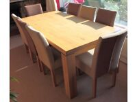 Wooden Dining Table, Chairs and Sideboard (cost £2,500)