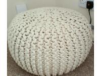 Home decor - Sabichi Hand Knitted Pouffe/Foot stool
