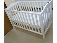 John Lewis Cot Cotbed and Mattress