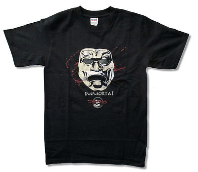 300 Movie Immortal Foil Mask Double Swords Black T Shirt New Official (300 Movie Mask)