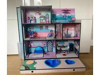 LOL Surprise OMG Wooden Dolls House (All Furniture Included)