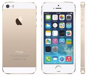 THE CELL SHOP has Factory Refurbished iPhone 5s, 16gb, White/Gold, works on Telus or Koodo