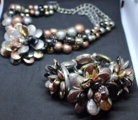 Stunning, elaborate, beaded bracelet. (matching necklace available) Strong elastic fit most wrists