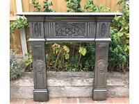 Antique Edwardian Fireplace Surround C1905 (Cast Iron)