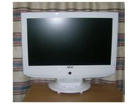 AKAI 24'' white television.