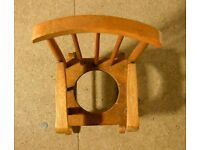 *CHARITY SALE* Doll house Cut Out Seat CHAIR, wooden VINTAGE DOLL HOUSE