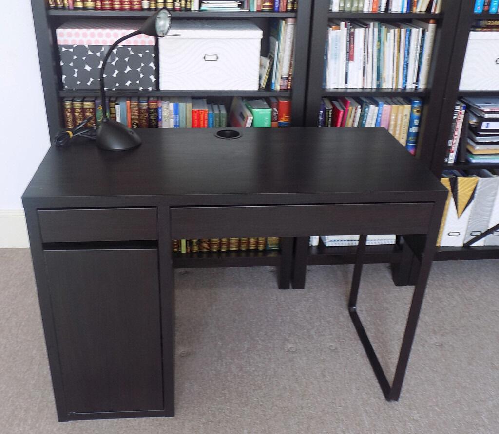 Ikea Micke Desk With Lamp Drawer Organiser