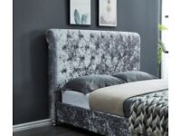 SLEIGH BED ON SALE LIMITED SALE OFFER, DOUBLE BED FRAME ONLY 180 GBP, CALL US NOW