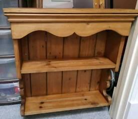 Solid pine wall shelf