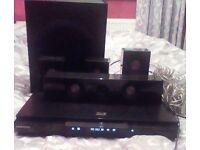 Samsung 3D blu-ray dvd player with surround sound.
