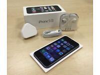 Space Grey Apple iPhone 5s 32GB Mobile Phone On Vodafone / Lebara / Talk Talk+ Free Case + Warranty