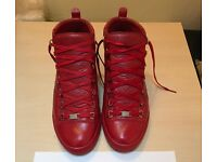 Balenciaga Arena High Red Leather Size 44 UK10