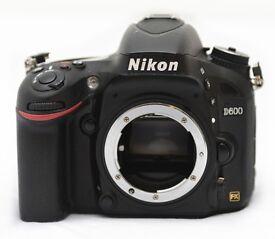 Nikon D600 24.3MP Digital SLR Camera - Black (Body only)