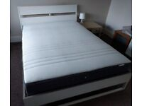 King size Bed with Mattress (One year old)