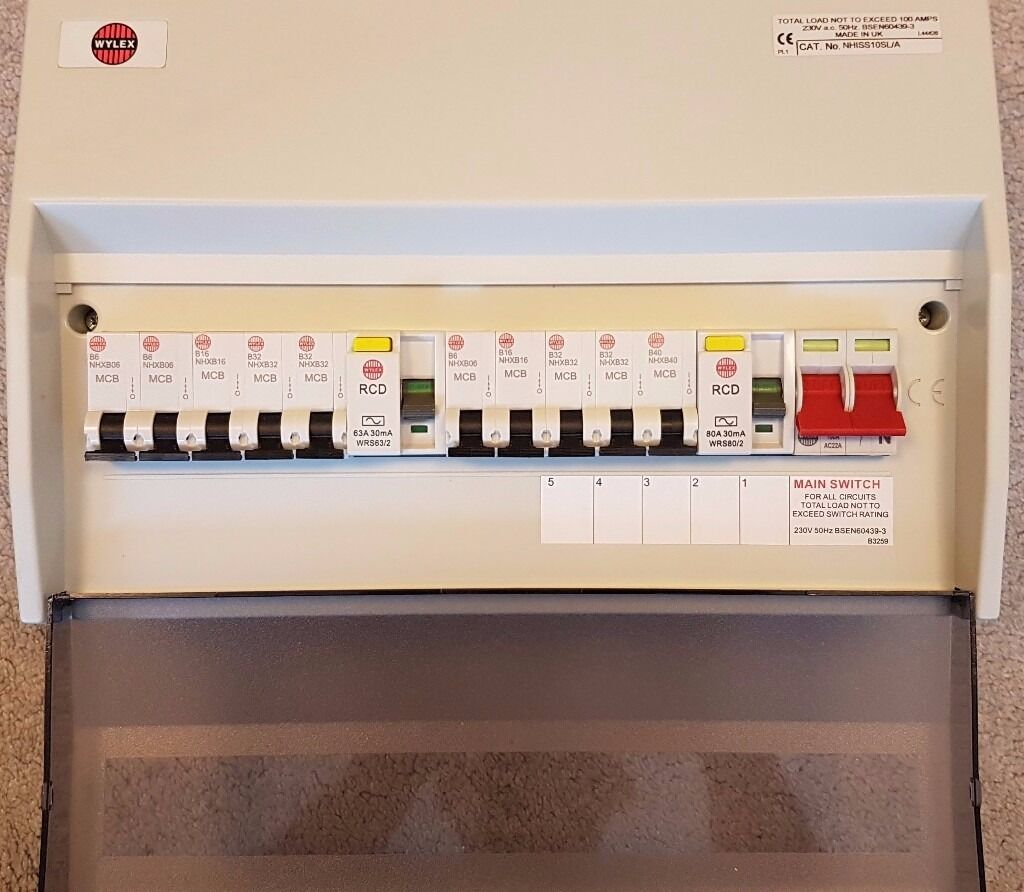 Wylex Dual Rcd Consumer Unit Fuse Box 10 Way In Bridge Of Don