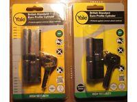 Yale Euro Profile Cylinder Locks x 2