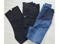 Maternity jeans and leggings - medium