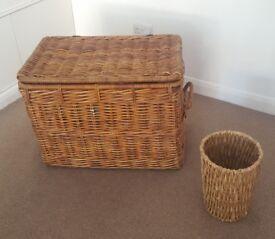 Wicker trunk + wicker basket