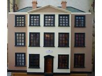 DOLLS HOUSE WITH LIGHTS AND FURNITURE