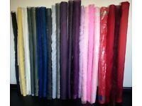 23 Rolls of Fabric - Sparkle & Sheer Organza & Taffeta–Perfect for Wedding Chair Bows or Dressmaking