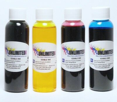 Edible Ink Refill Kit for Canon Printers ,60ml each bottles, Unlimited Ink 60 Ml Printer Ink