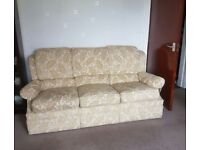 G Plan Beige Damask 3 Seater Sofa with 2 Matching Electric Reclining Armchairs *URGENT*