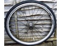 Hybrid Bike front wheel and tyre
