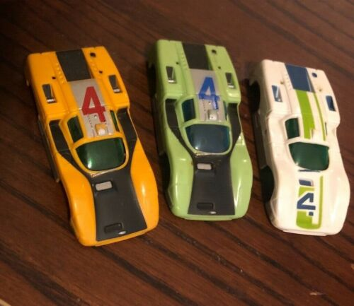 LOT OF 3 AURORA XCELLERATORS CHAPARRAL SLOT CAR BODIES