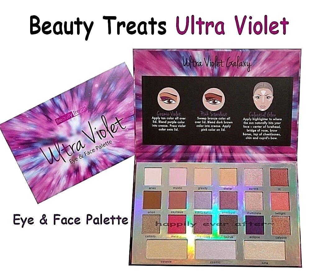 Beauty Treats Ultra Violet Eyeshadow Palettes- Shimmery & Ma