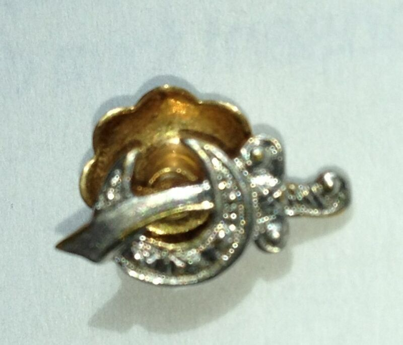 Vintage Masonic Shriners SWORD PIN with screw back