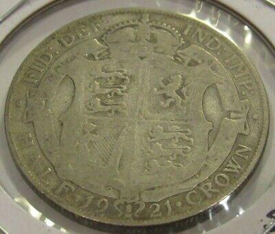 1921 British Half Crown 50% Silver Coin - Great Britain