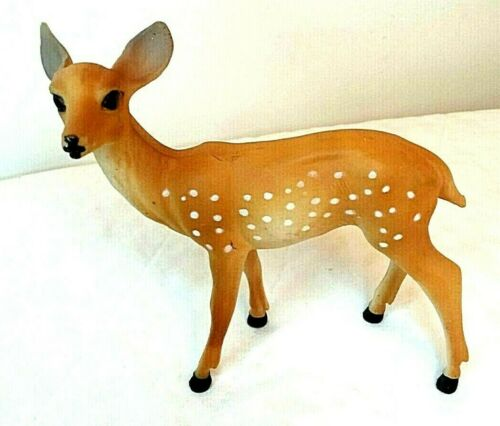 Celluloid Deer figure Hong Kong No.651 Pristine Vintage Christmas Décor