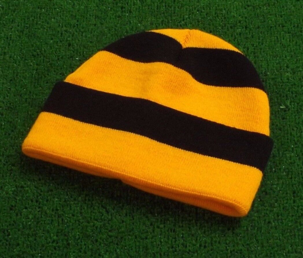 Hull City Colours Retro Bar Hat - Amber and Black - Made in UK