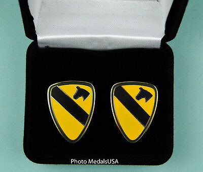 1st Cavalry Division Army Cuff Links in Presentation Gift Box cufflinks