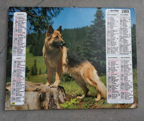 Almanach calendrier du facteur 1989 / spitz et berger allemand